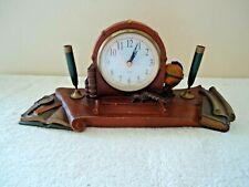 "Vintage Heavy Made Desk Top / Shelf / Mantel Clock "" Beautiful Collectible Item"