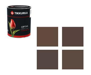 (18,90€/L) Tikkurila Wandfarbe Optiva - 1 Liter Farbtöne braun - Markenqualität