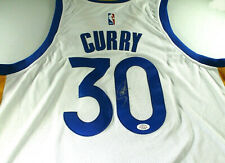 STEPHEN CURRY / AUTOGRAPHED GOLDEN STATE WARRIORS WHITE PRO STYLE JERSEY / COA