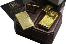 Gold Bar Stile Lingotto Bullion DI LUSSO Gemelli ACCENDISIGARI Bar Regalo Custodia