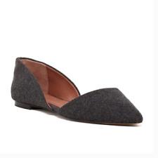$98 Vince Camuto   Womens Shoes Geneva d'Orsay Gray Flats 6.5M
