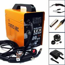 GASLESS MIG 100 PORTABLE WELDER WELDING MACHINE NO GAS FLUX CORE WIRE FEED 90A