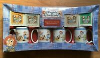 Raggedy Ann & Andy MUG SET with TEA 4 Cups 24 Tea BOXED SET Vintage