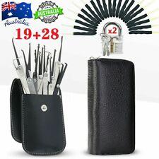 47PCS Practice Lock Training Set Padlock Locksmith Unlocking Pick Keys Tool Kit