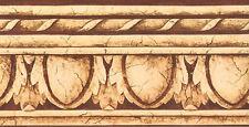 Marrone & Crema Uovo & Dardo con Crackle e Corda Edge Bordo Carta da Parati
