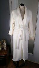 Natori Private Luxuries Robe Small Soft Plush Cream Pockets 100 Polyester EUC