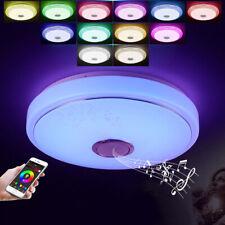 Lámpara de Techo Plafón Bluetooth LED Cambio de Color RGB 36W Regulable Altavoz