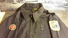 Vintage Unitog Jacket 44 Long Blue Aberdeen Fire Department & Red Cross Patches