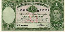 1949 AUSTRALIAN ONE POUND NOTE R31 COOMBS/WATT gEF I/11 956256 CRISP NOTE