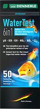 Dennerle 6in1 50 Agua tiras de prueba Kit Ph gh, kh, no2 No3 como Jbl easytest