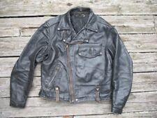 buco jacket, original '50s buco leather jacket, vintage motorcycle jacket, sz 42