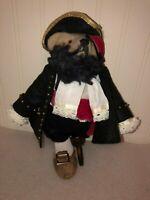 Vintage Pirate Bear Peg Leg OOAK USA  Artist Kruse Original Teddy Bear 1982 MINT