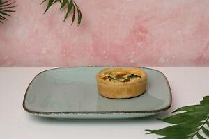 D&F Natural Blue Dessert/Side plate set of 4