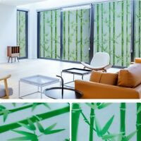 Bamboo Static Window Films Clings Sticker Frosted Opaque Glass Waterproof Modern