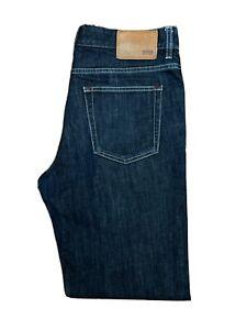 Original Hugo Boss Alabama1 Straight Indigo Stretch Denim Jeans W34 L32 ES 8269