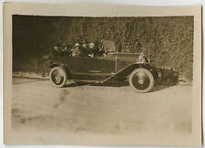 PHOTO ANCIENNE - VINTAGE SNAPSHOT - VOITURE DÉCAPOTABLE TACOT CHAPEAU - CAR HAT