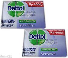 2 X 110g Dettol Anti Bacterial Bar Soap SENSITIVE Formula Best germ protection