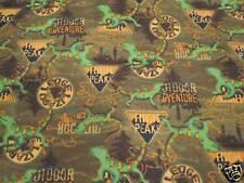 Gecko Outdoor Adventure Cotton Flannel Fabric 3.92 Yd L