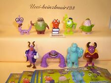 Komplettsatz MONSTER UNI Monsters University + 9 BPZ - Kinder Joy 2013