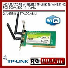 SCHEDA di rete PCI WI-FI WIRELESS 300Mbps 2X MIMO TP-LINK TL-WN851ND ANTENNE