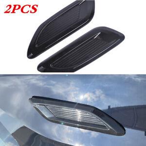 2Pcs Car Air Flow Intake Scoop Hood Bonnet Vent Front Engine Cover Decor Sticker