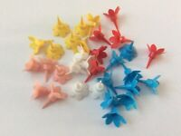 Birthday Cake Candle Holders. Pack of 12. Party. New. Assorted Colours.
