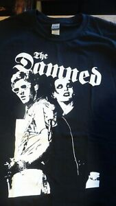 THE DAMNED T-Shirt.Dave & Captain early live pic Size L,& other sizes.Punk,Rock