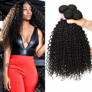 "8""-30"" 3Bundles Brazilian Curly Human Hair Extensions Virgin Human Hair Weave"