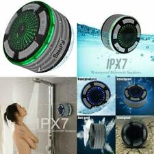Wireless Bluetooth Speaker Shower Radios Waterproof Portable w/ LED Mood Lights
