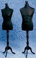 Busti Manichino Expo Busto Sartoria Uomo o Donna Base Trepiede Legno + Testina