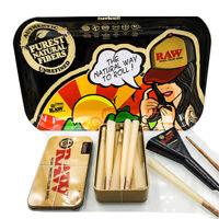 RAw King Size cone 15 count Tray Bundle + Raw Loader + Raw Tin+ Raw Tray