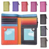 Ladies Womens Genuine Multi Colour RFID Blocking High Quality Purse Wallet