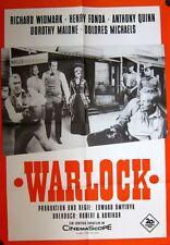 WARLOCK (WA-Kinoplakat / Filmplakat '64) - R. WIDMARK / H. FONDA / A. QUINN