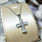 Gorgeous Cross 925 Silver Necklaces Pendants Cubic Zirconia Women Jewelry Gifts