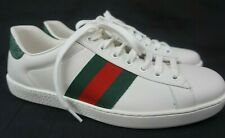 Gucci Men's White Ace Clean Leather Low Top Sneakers Shoes Size 7.5 G / 8.5 US