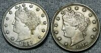 1883 No Cents 1912 Liberty V Nickel  Lot --- Nice Coin Lot --- #L829