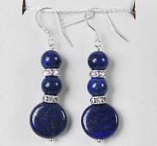 Natural Egyptian Lapis Lazuli Gemstones/ Hook Dangle earrings