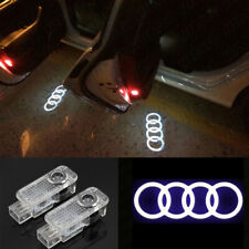 2x LED Door Logo Projector Lamp Step Puddle Lights For Audi S3 A4 R8 RS3 RS6