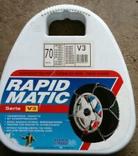 NEW/UNUSED MAGGI RAPID MATIC SNOW CHAINS. V3/70. Easy fitting.