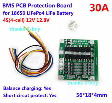 4S 30A 12V Lithium iron phosphate Battery BMS PCB Protection Board with Balance