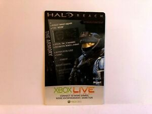 Halo Reach Bonus Content Code CARD INSERT ONLY Unpunched Untorn EXPIRED