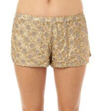 O'Neill Women Dakota Beige & Gold Dress Shorts Sz Small