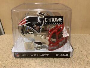 Ty Law Signed Auto New England Patriots Chrome Mini Helmet HOF JSA COA