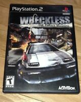WRECKLESS - PS2 - COMPLETE WITH MANUAL - FREE S/H - (G4)
