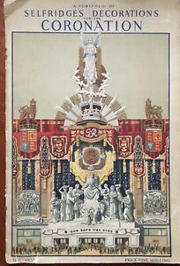 1937 Portfolio of Selfridges Decorations for the Coronation - King George VI