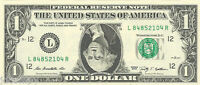 George Washington UPSIDE DOWN Dollar Bill - REAL Money! - Fun Conversation Piece