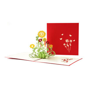 Sun Flower Popup Pop Up Greeting 3D Card Birthday Anniversary Wedding Graduation