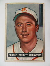 """1951 BOWMAN GEORGE """"SNUFFY"""" STIRNWEISS #21"""