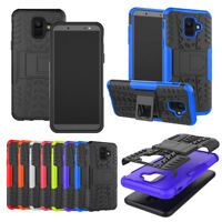 For Samsung A6 plus 2018 Shockproof Heavy Duty Hybrid Armor Kickstand Case Cover