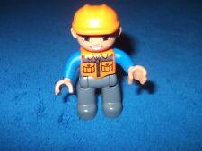 LEGO DUPLO VILLE BAUSTELLE 1 X PAPA BAUARBEITER Figur Männchen 5653 10518 10520
